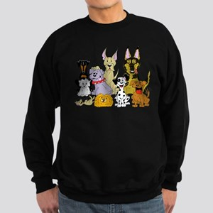 Cartoon Dog Pack Sweatshirt (dark)
