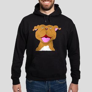 Smiling Pit Bull Terrier Hoodie (dark)