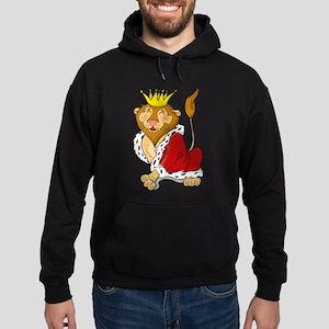 King Lion Cartoon Hoodie (dark)