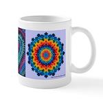 Raspberry Heart Tie-dye Art Mug