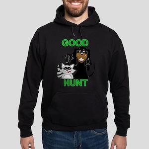 Raccoon Hunting Hound Hoodie (dark)