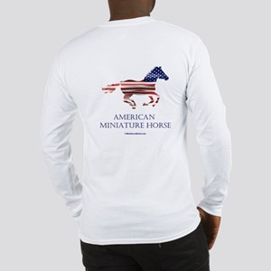 American Miniature Horse Flag Long Sleeve T-Shirt
