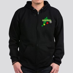 Senegal Soccer Zip Hoodie (dark)