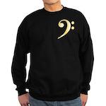 Gold Bass Clef Sweatshirt (dark)