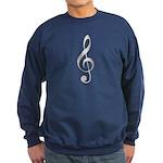 Treble Clef Sweatshirt (dark)