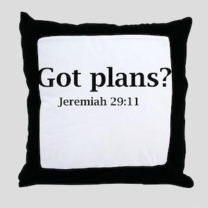 Got Plans? Throw Pillow