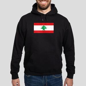 Lebanon Lebanese Blank Flag Hoodie (dark)