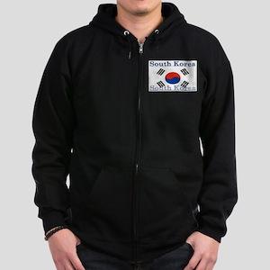 South Korea Zip Hoodie (dark)