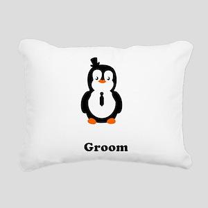 pengiun grooms Rectangular Canvas Pillow
