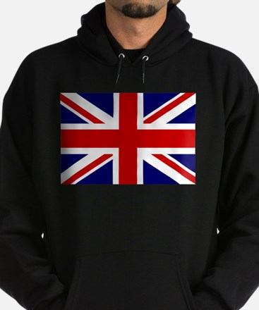 Cute British union jack Hoodie (dark)