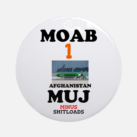 MOAB Bomb Afghanistan April 2017 Round Ornament