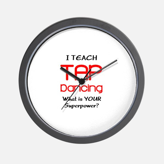 teach tap dance Wall Clock