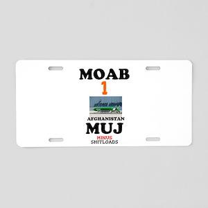 MOAB Bomb Afghanistan April Aluminum License Plate