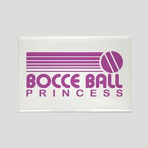 Bocce Ball Princess Rectangle Magnet