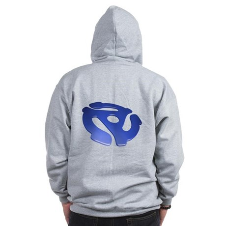 Blue 3D 45 RPM Adapter Zip Hoodie