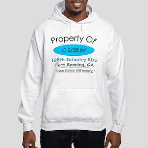 C co 2/58th inf Hooded Sweatshirt
