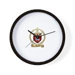 RHAULT Family Crest Wall Clock