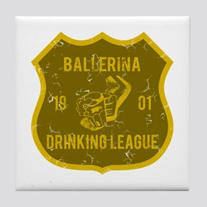 Ballerina Drinking League Tile Coaster