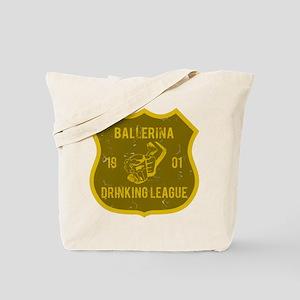 Ballerina Drinking League Tote Bag