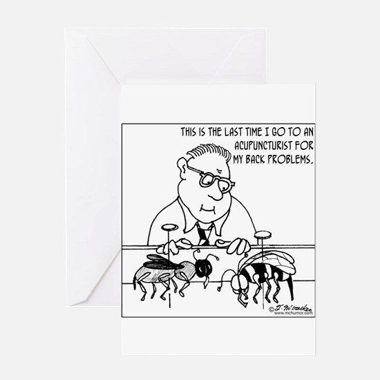 Acupuncture for Bugs Greeting Card