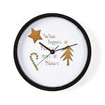 What happens at Nana's Wall Clock