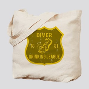 Diver Drinking League Tote Bag