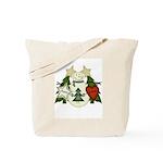 Peace Love Joy Snowman Tote Bag
