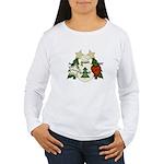 Peace Love Joy Snowman Women's Long Sleeve T-Shirt