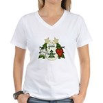 Peace Love Joy Snowman Women's V-Neck T-Shirt