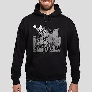 No One On The Corner Has Swag Hoodie (dark)