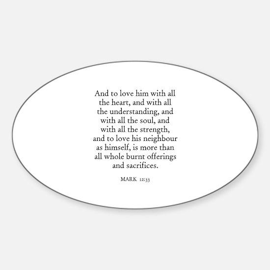 MARK 12:33 Oval Decal