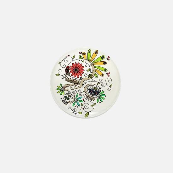 Unique Candy skull Mini Button