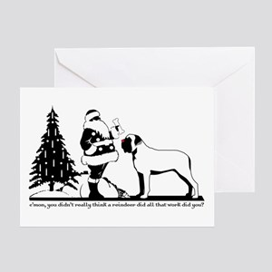 Red-Nosed Mastiff Greeting Card