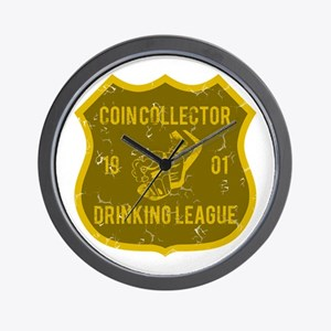 Coin Collector Drinking League Wall Clock
