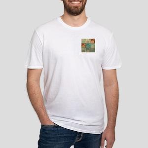 Curling Pop Art Fitted T-Shirt