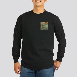 Curling Pop Art Long Sleeve Dark T-Shirt