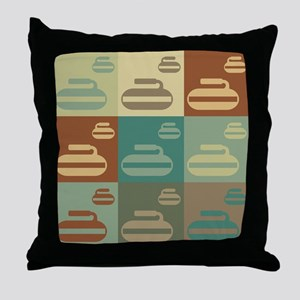 Curling Pop Art Throw Pillow