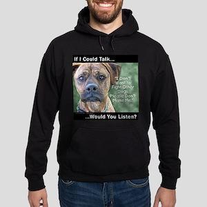 Stop Dog Fighting Hoodie (dark)