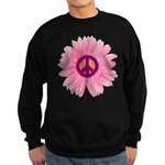 Pink Peace Daisy Sweatshirt (dark)