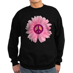 Pink Peace Daisy Sweatshirt (dark)