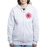 Pink Peace Daisy Women's Zip Hoodie