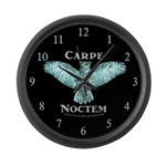 "Night Owl ""Carpe Noctem"" Large Wall Cloc"