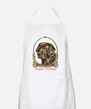 Chocolate Lab Holiday BBQ Apron