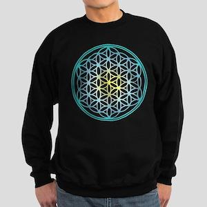 Flower of Life - Aqua Sweatshirt (dark)