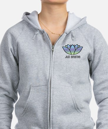 Just Breathe Zip Hoodie