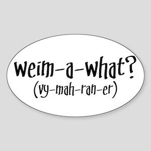 Weimaraner Oval Sticker
