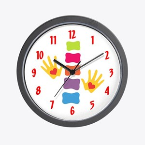 Chiro Hands & Spine Wall Clock