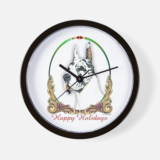 Harlequin Dane Holiday Wall Clock