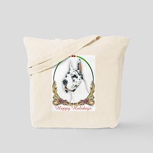 Harlequin Dane Holiday Tote Bag