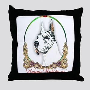 Harlequin Dane Holiday Throw Pillow